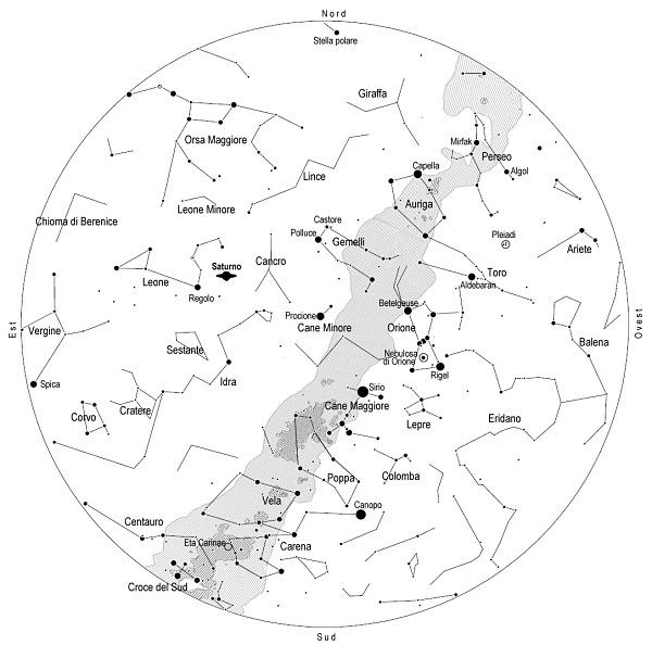 Mappa Cielo Maldiviano