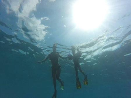 snorkeling alle Maldive con bambini