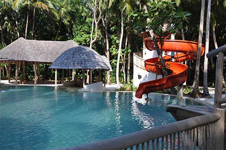 Soneva Fushi bungalow con piscina