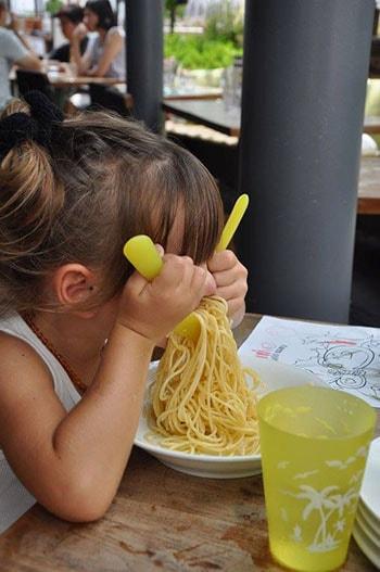 bambini e cibo alle Maldive