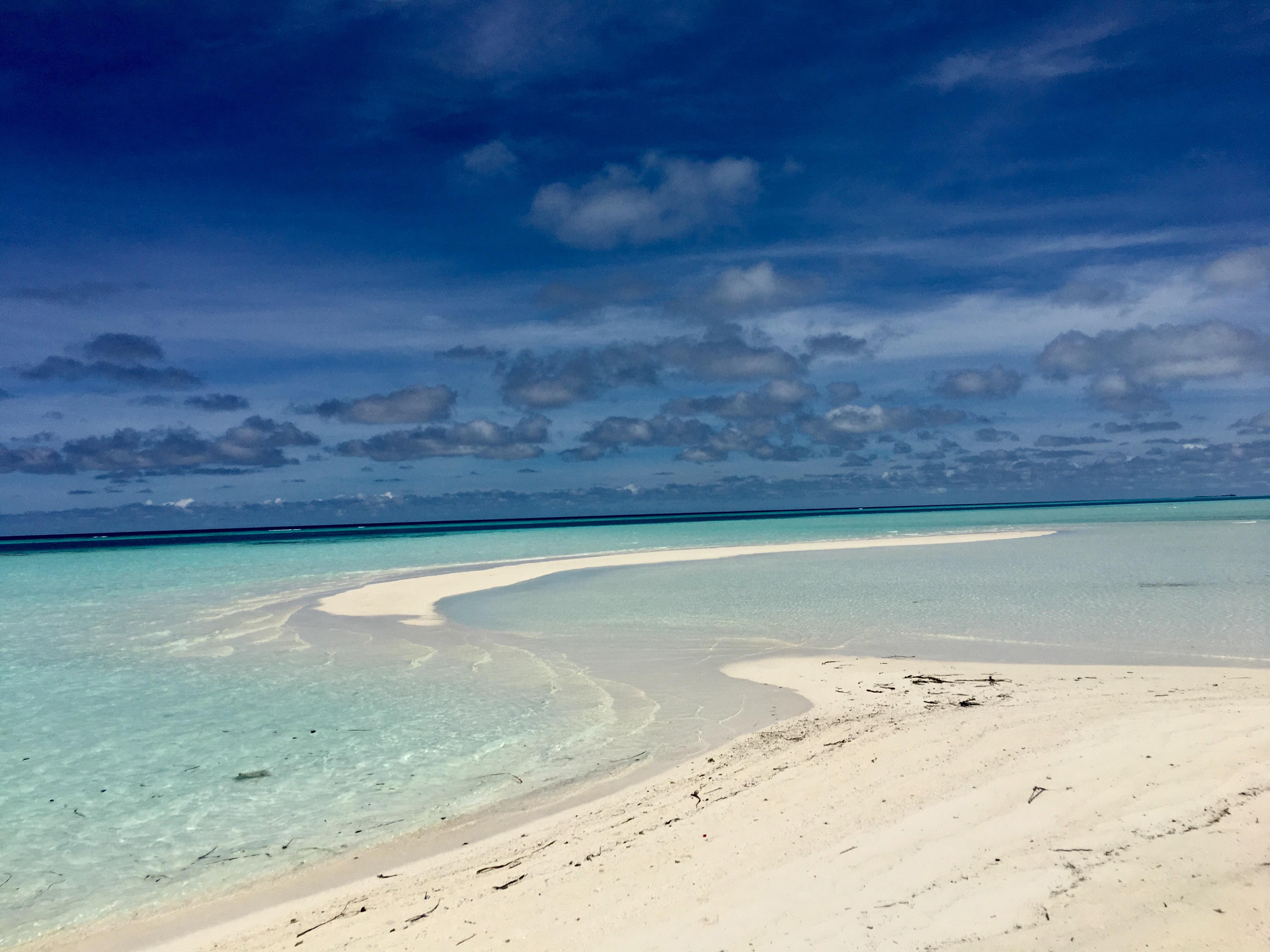 lingua di sabbia alle Maldive