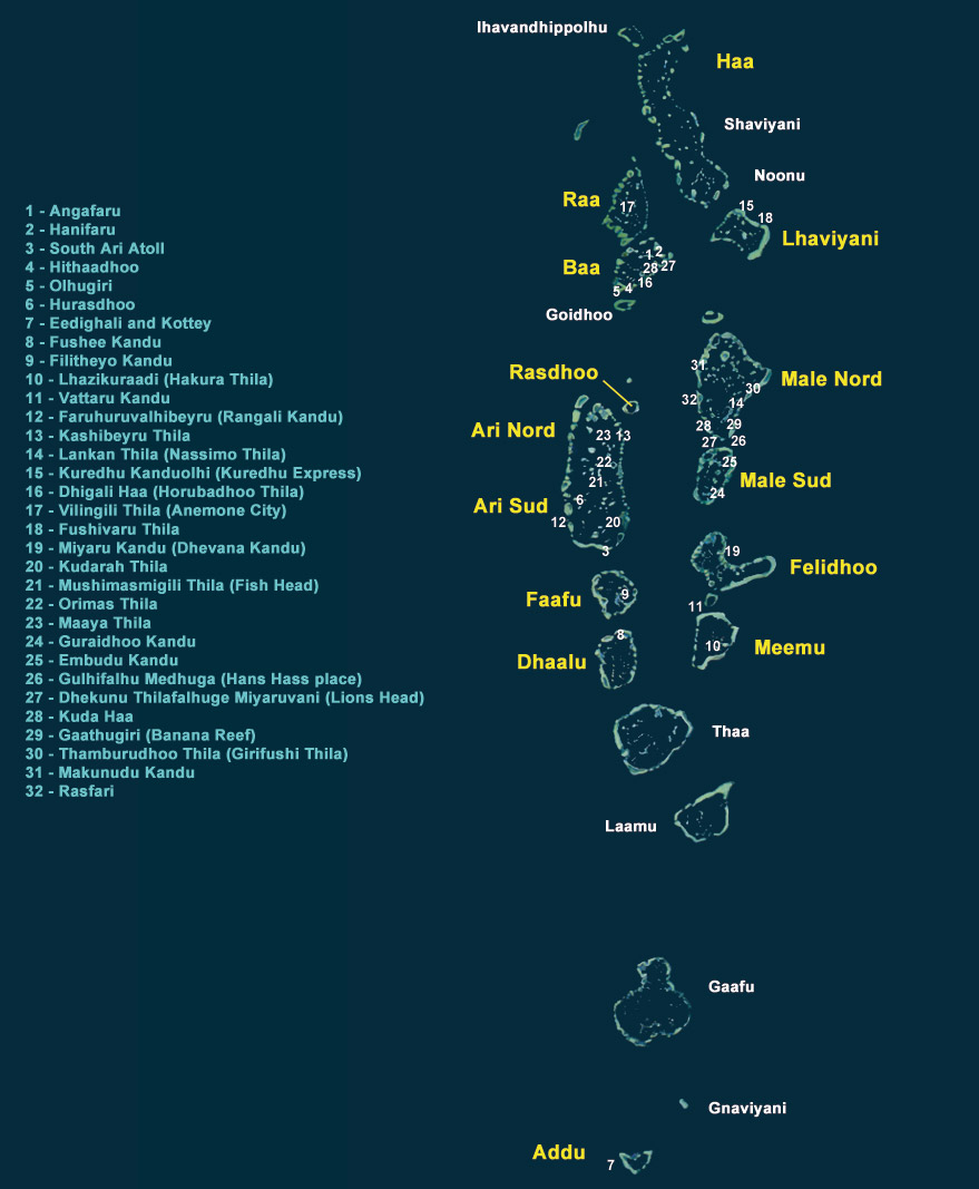 Aree Marine Protette alle isole Maldive