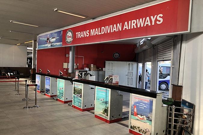Hulhulhe arrivi aeroporto Velana Maldive