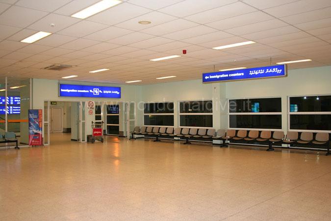 Checkin aeroporto Velana Maldive