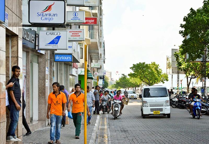 Male' dall'alto, Maldive