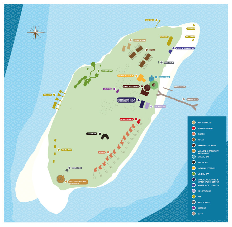 mappa Aaaveee Nature's Paradise, Map Maldives