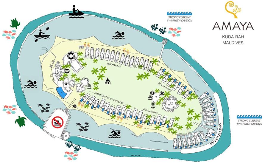 mappa Amaya Kuda Rah Maldive, Map Maldives