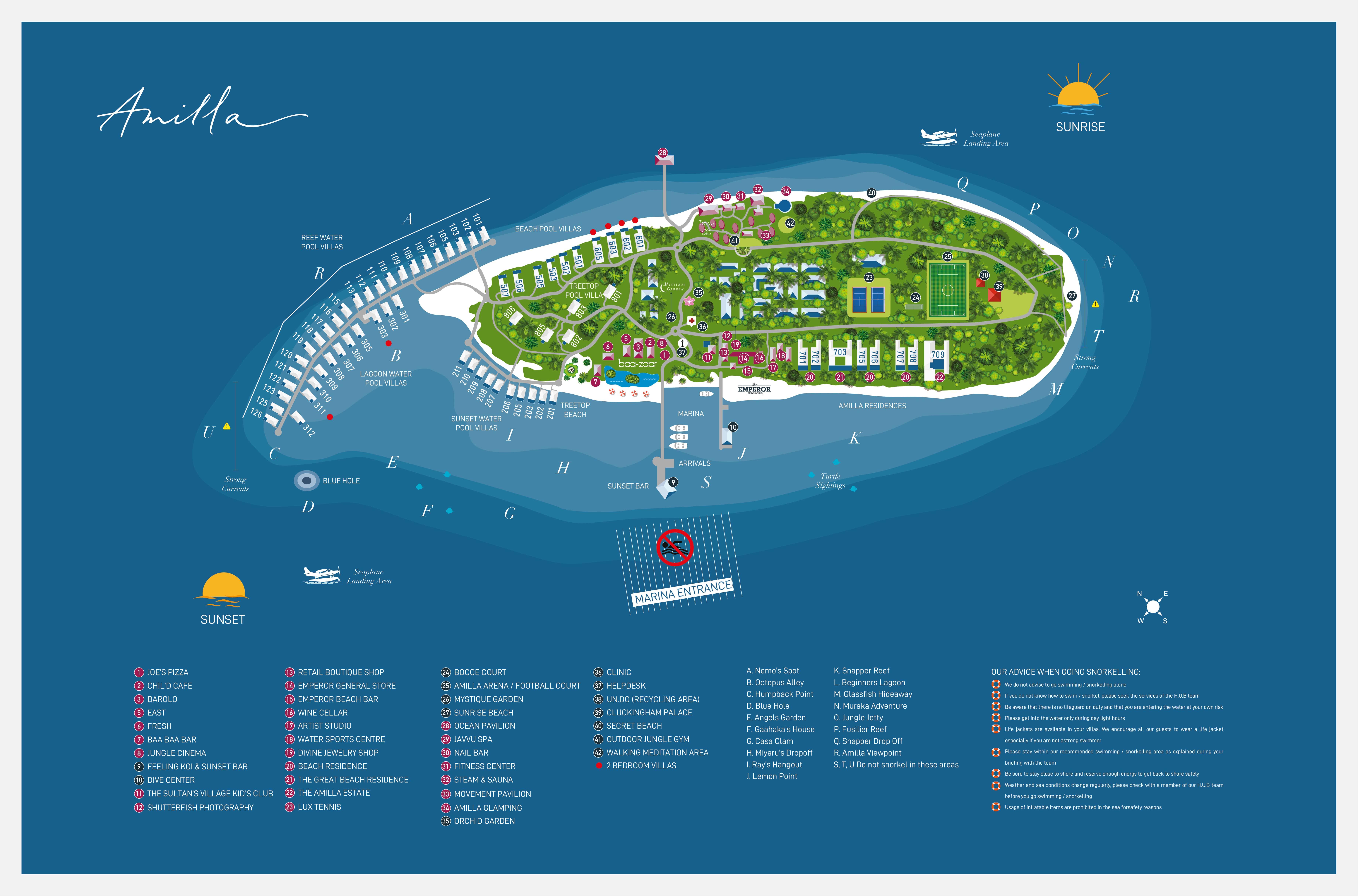 mappa Amilla Fushi Maldive, Map Maldives