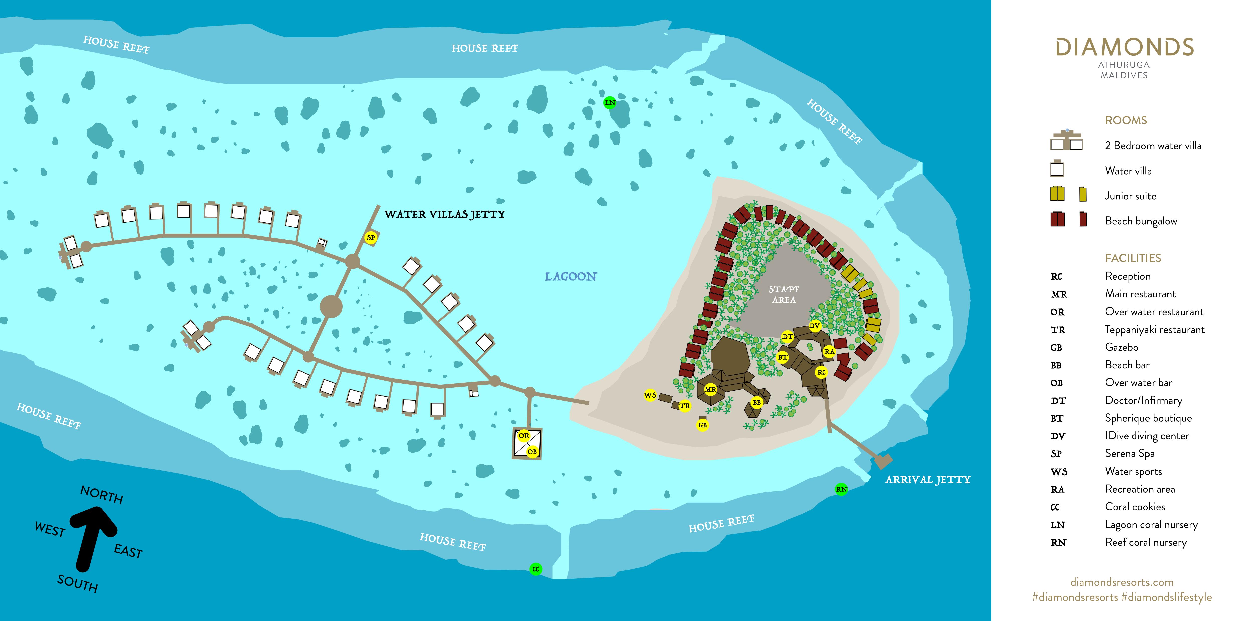mappa Athuruga Maldive, Map Maldives