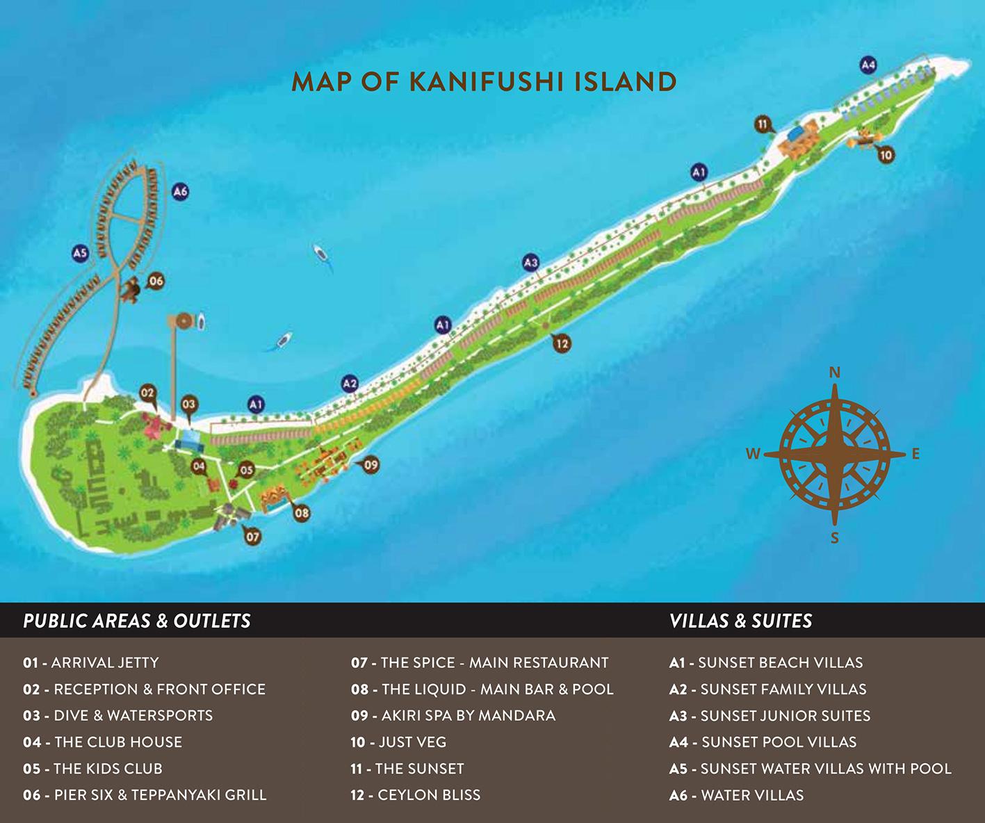mappa Kanifushi Maldive, Map Maldives