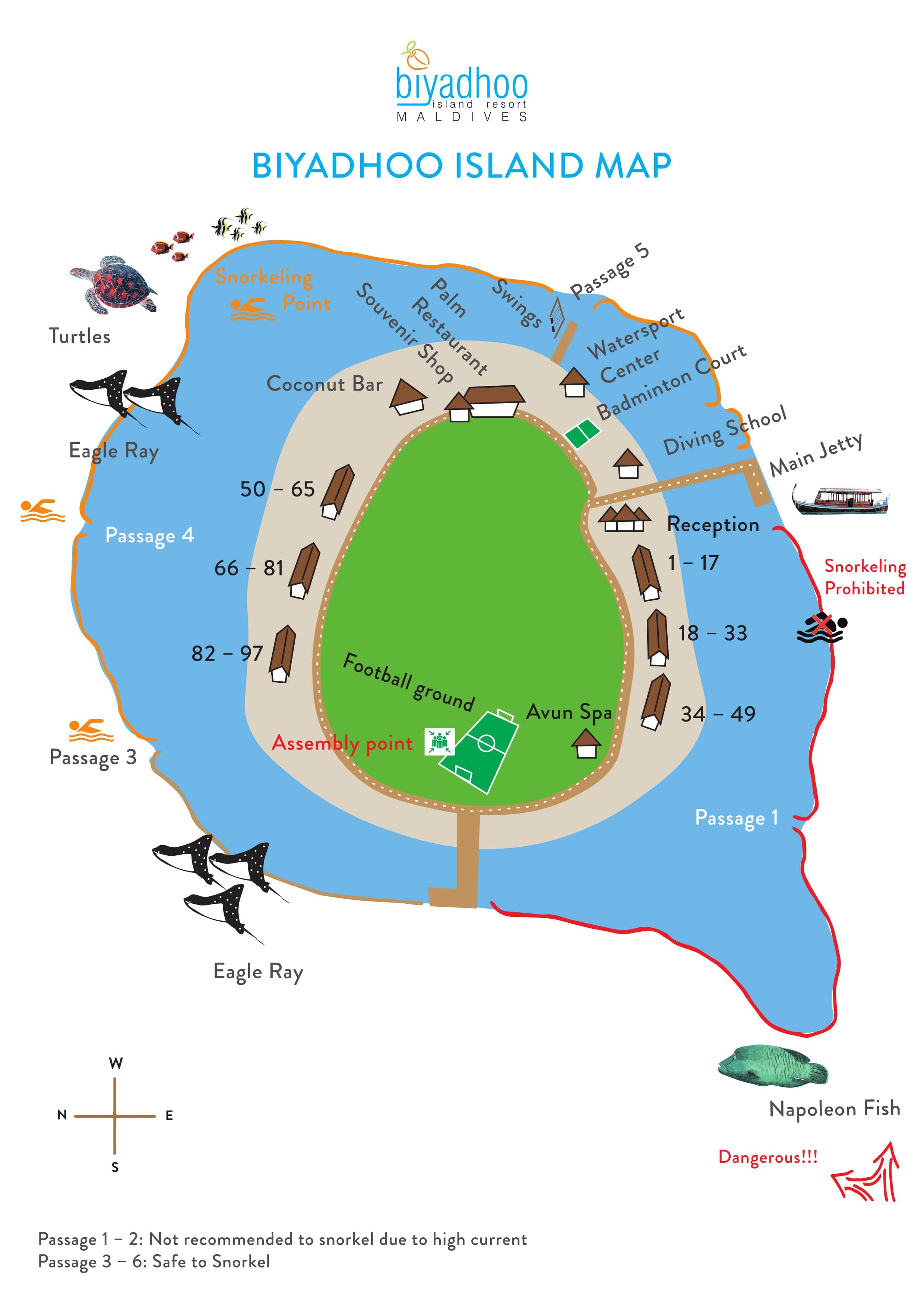 mappa Biyadhoo Maldive, Map Maldives
