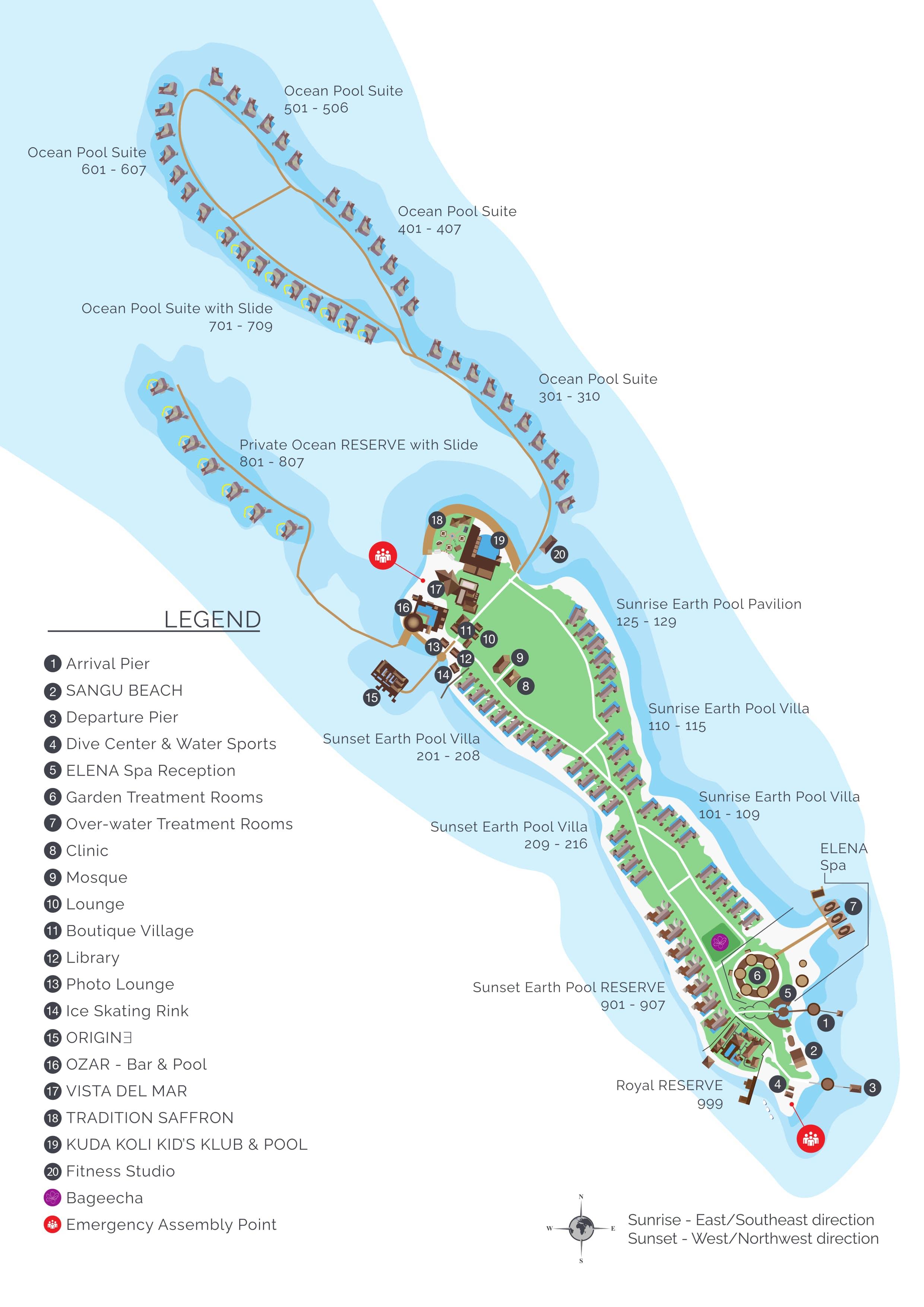mappa Ozen Reserve Bolifushi, Map Maldives