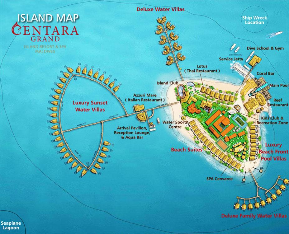 mappa Centara Machchafushi Maldive, Map Maldives