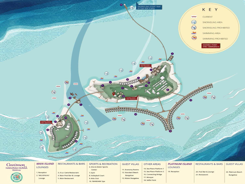 mappa Cinnamon Hakuraa Huraa Maldive, Map Maldives