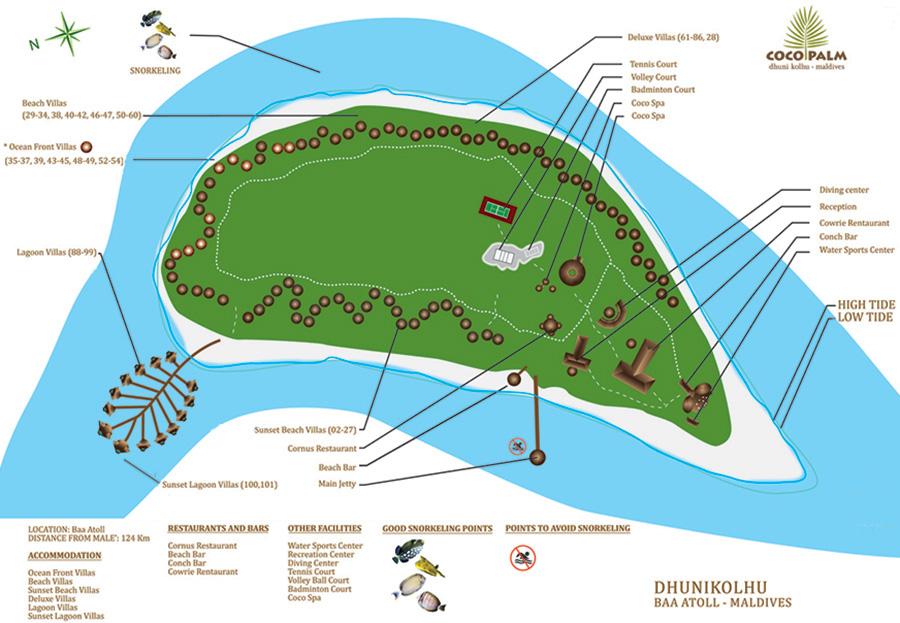 mappa Coco Palm Dhuni Kolhu Maldive, Map Maldives