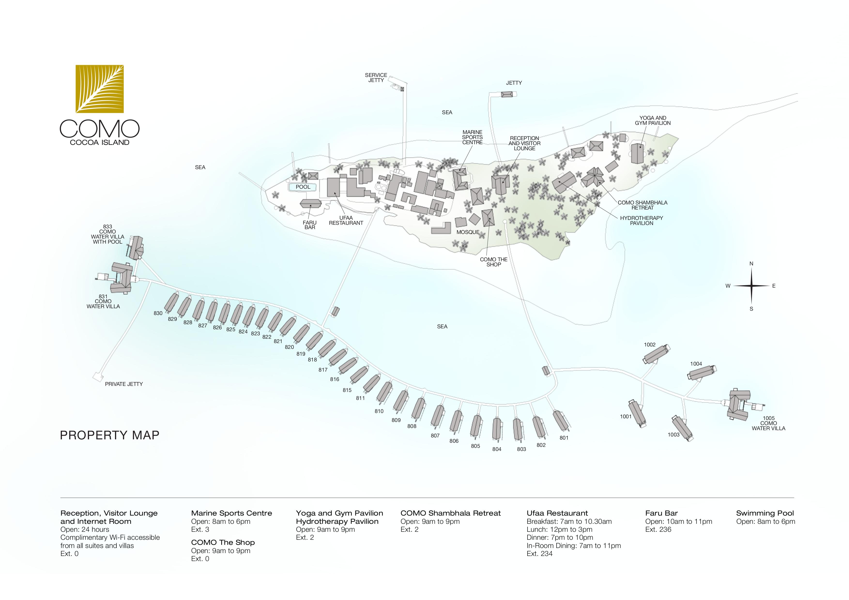 mappa Cocoa Island Maldive, Map Maldives