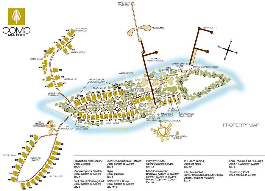 mappa COMO Maalifushi Maldive, Map Maldives