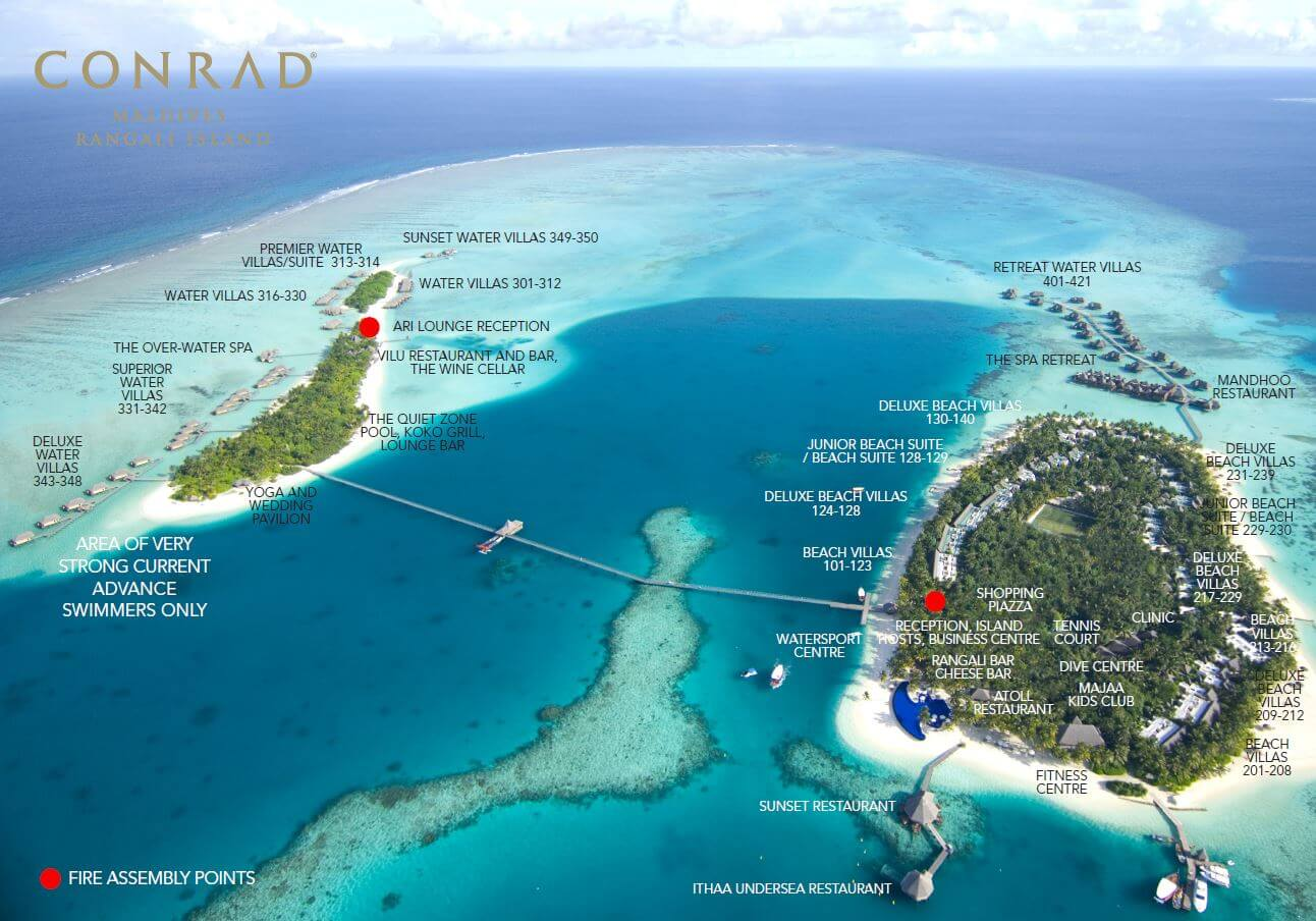 mappa Conrad Maldives Rangali Maldive, Map Maldives