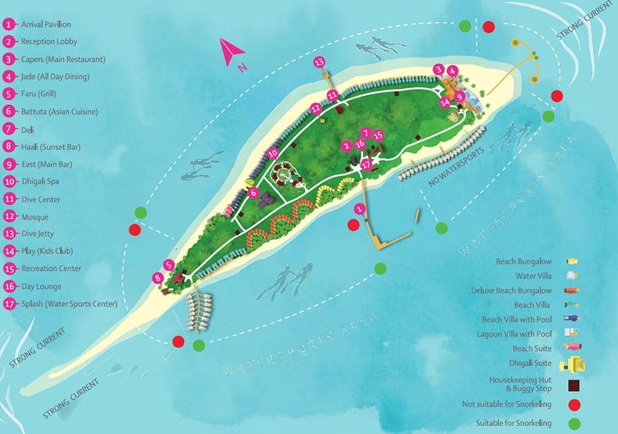 Mappa Dhigali Maldives, Map Maldives