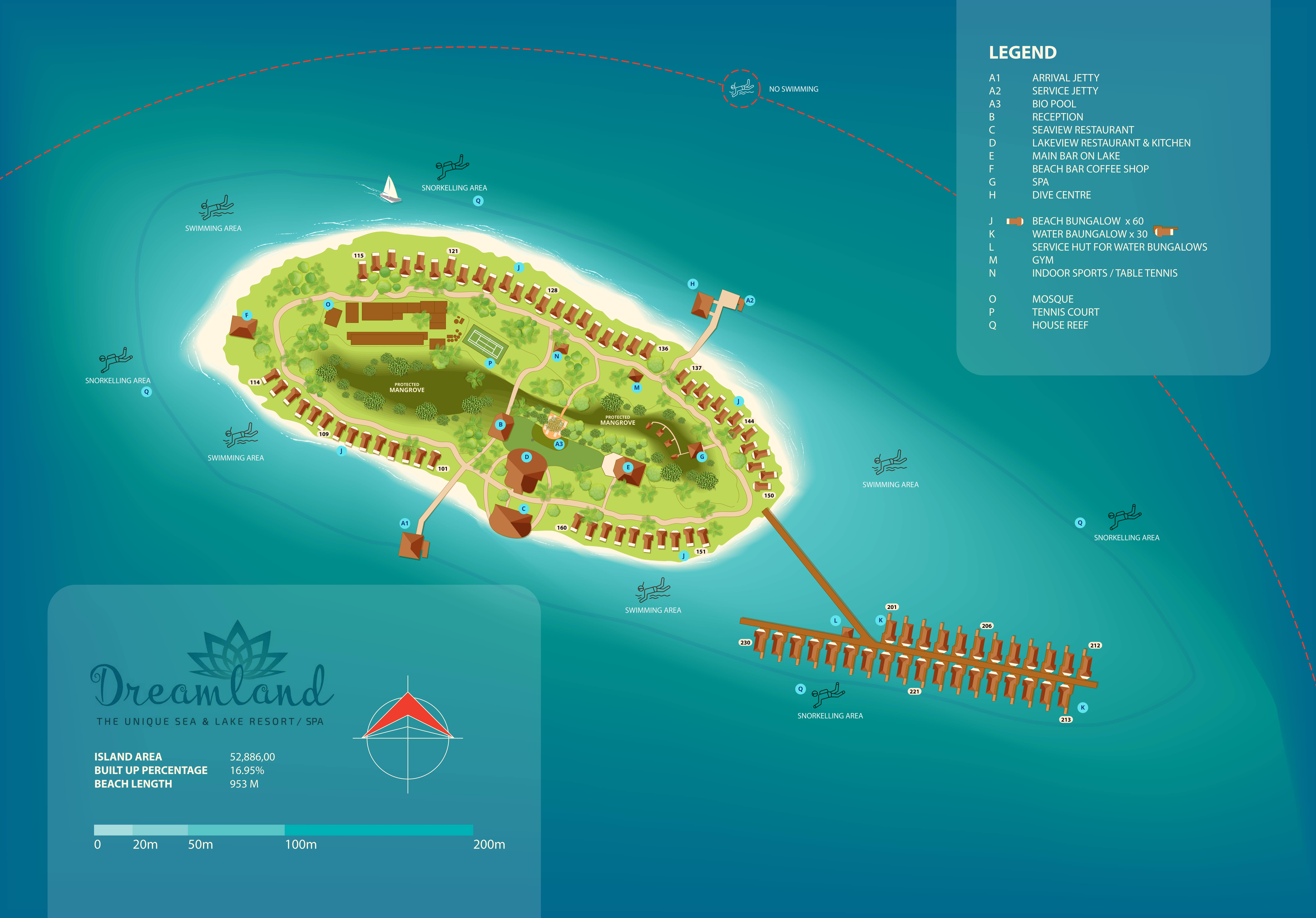 mappa Dreamland Unique Maldives, Map Maldives