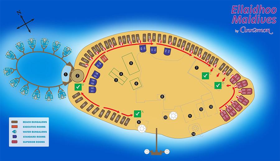 mappa Ellaidhoo Maldive, Map Maldives