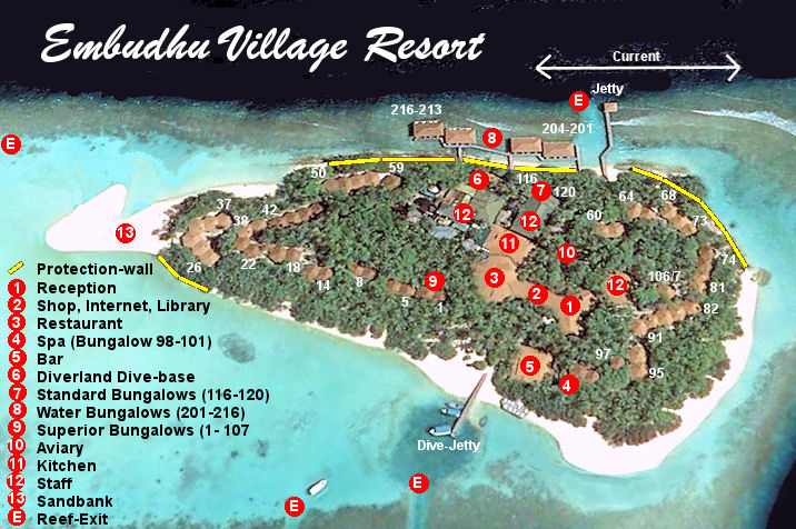 mappa Embudu Maldive, Map Maldives