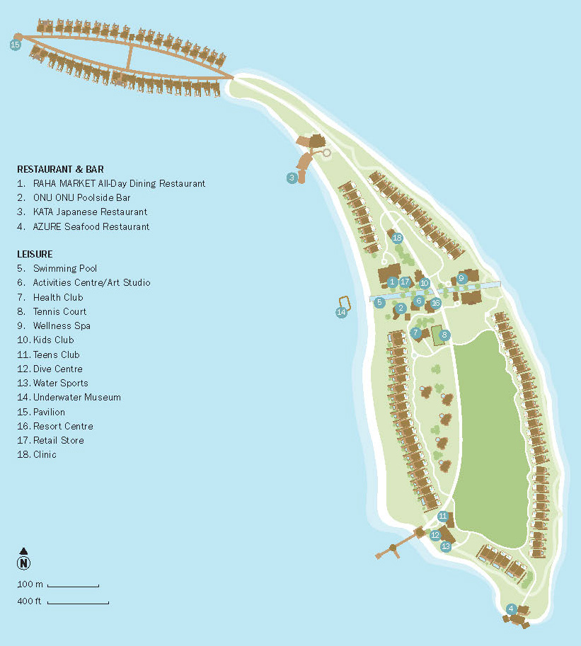 mappa Fairmont Maldives Sirru Fen Fushi, Map Maldives