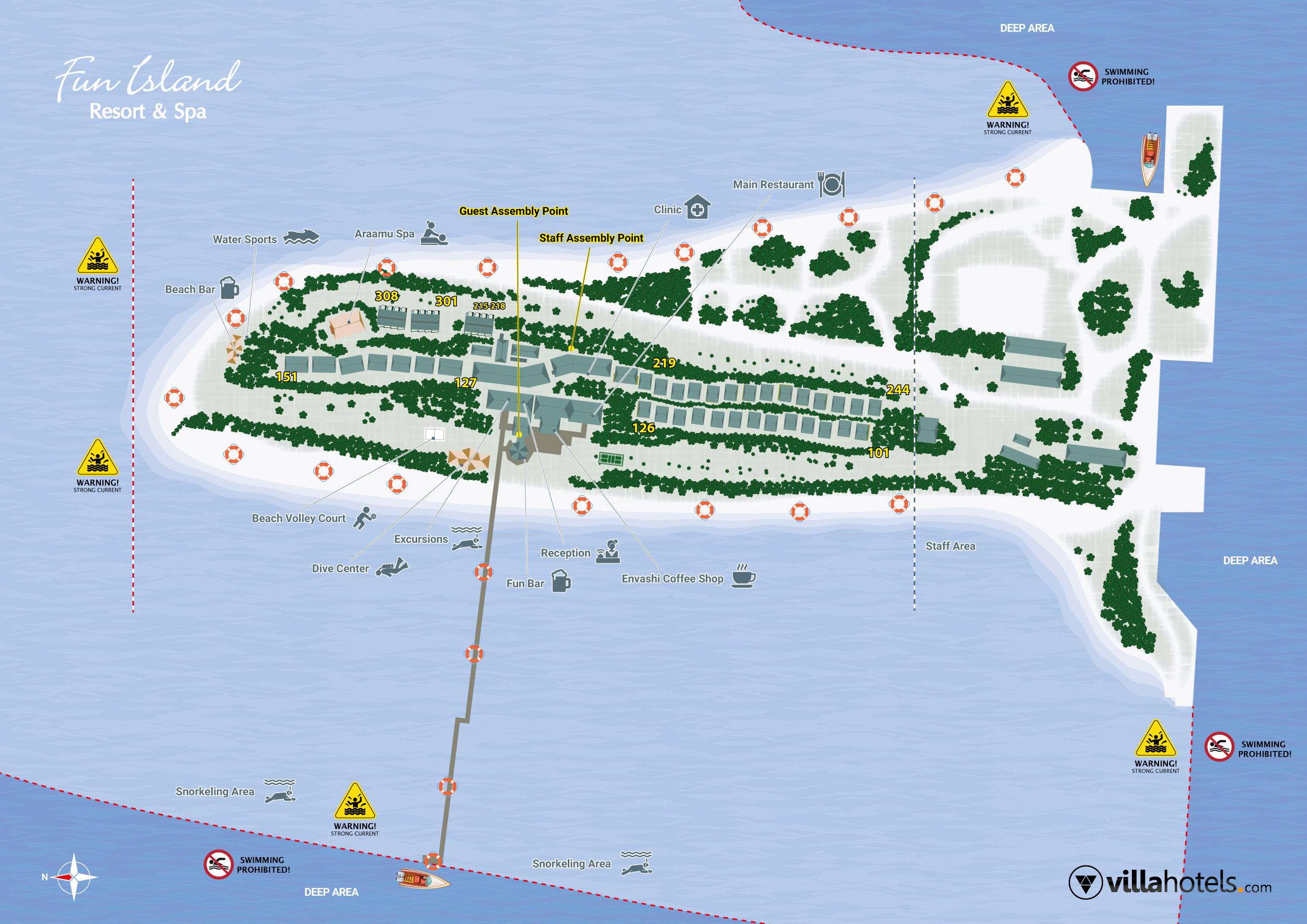 mappa Fun Island Resort, Map Maldives