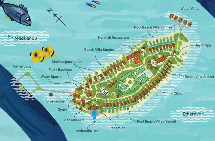 mappa Fushifaru Maldive, Map Maldives