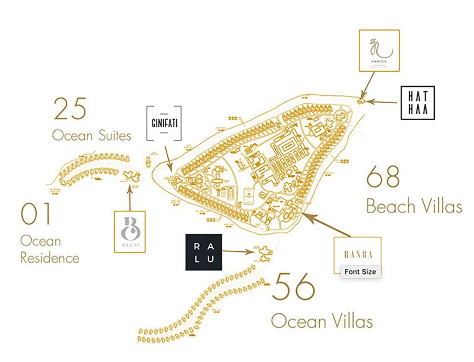 mappa Heritance Aarah, Map Maldives