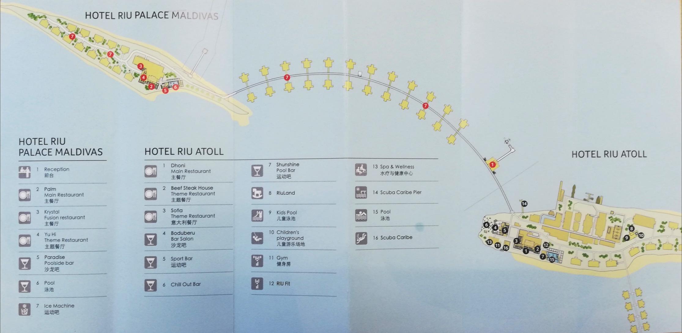 mappa Hotel Riu Atoll, Map Maldives