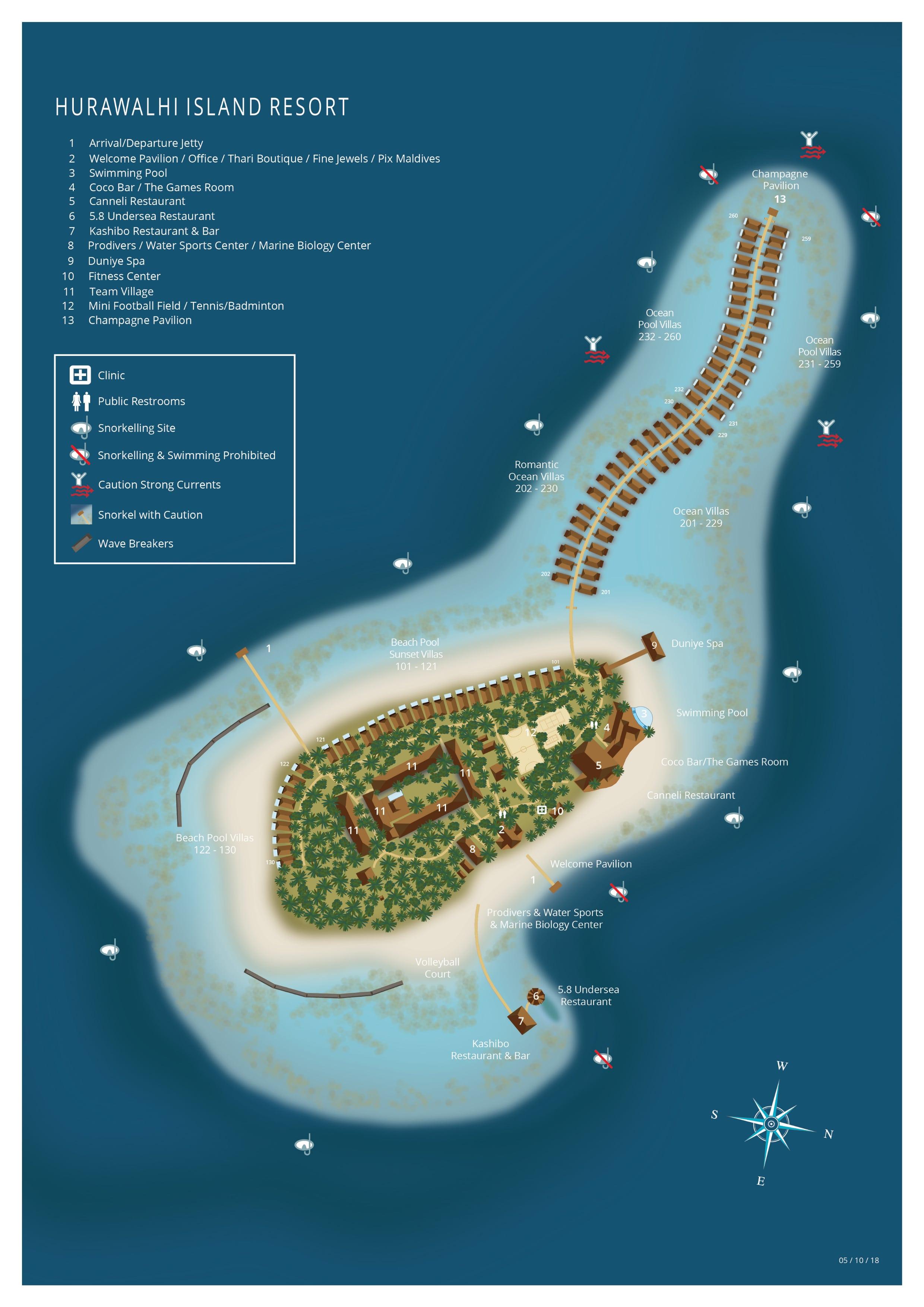 mappa Hurawalhi Maldive, Map Maldives
