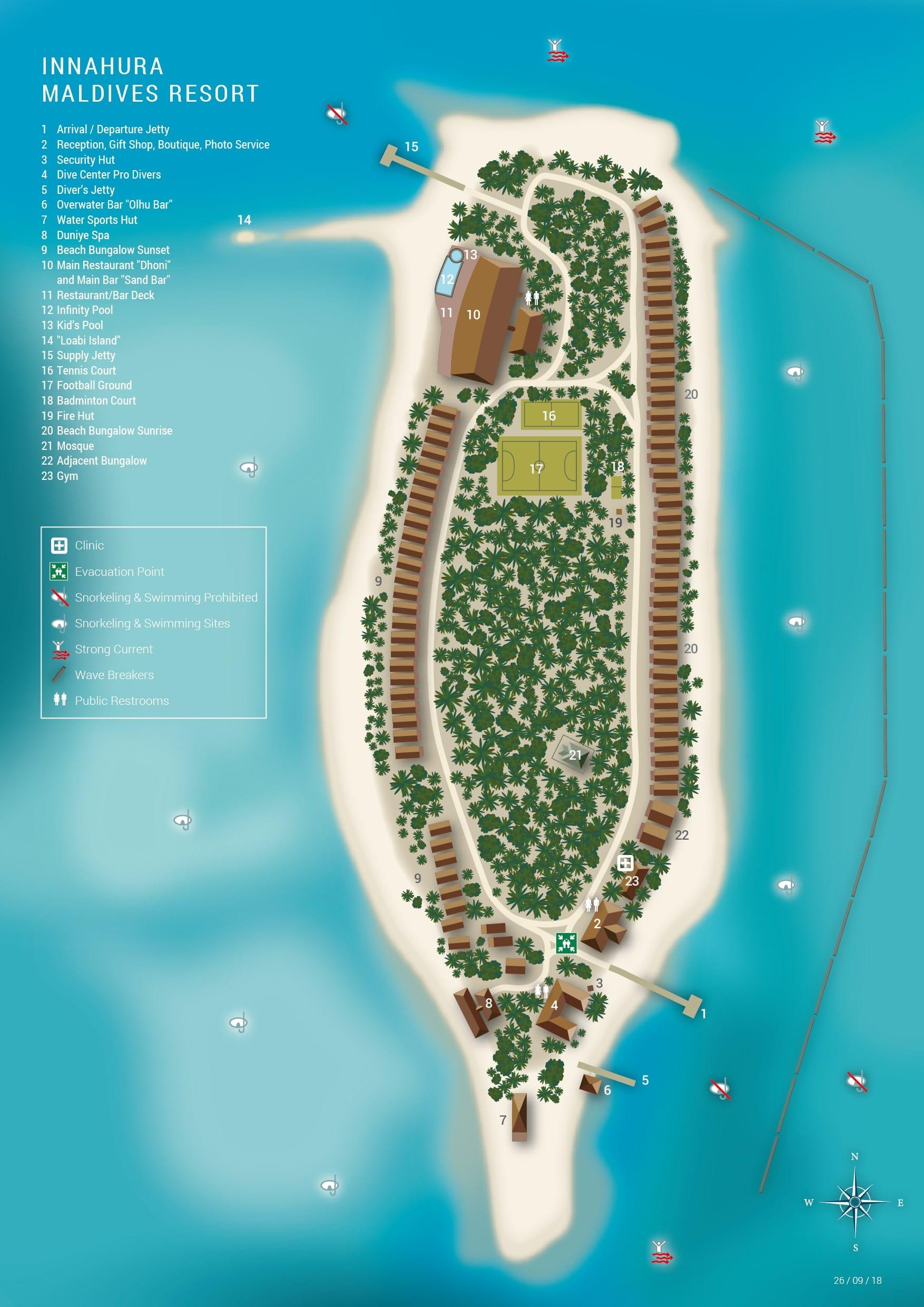 mappa Innahura Maldives, Map Maldives