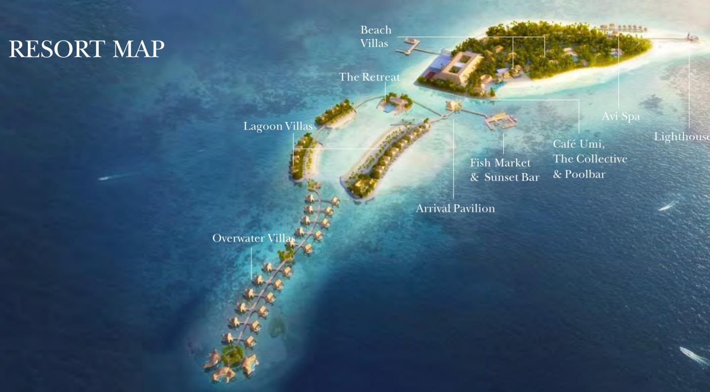 Intercontinental Maldives Maamunagau, Map Maldives