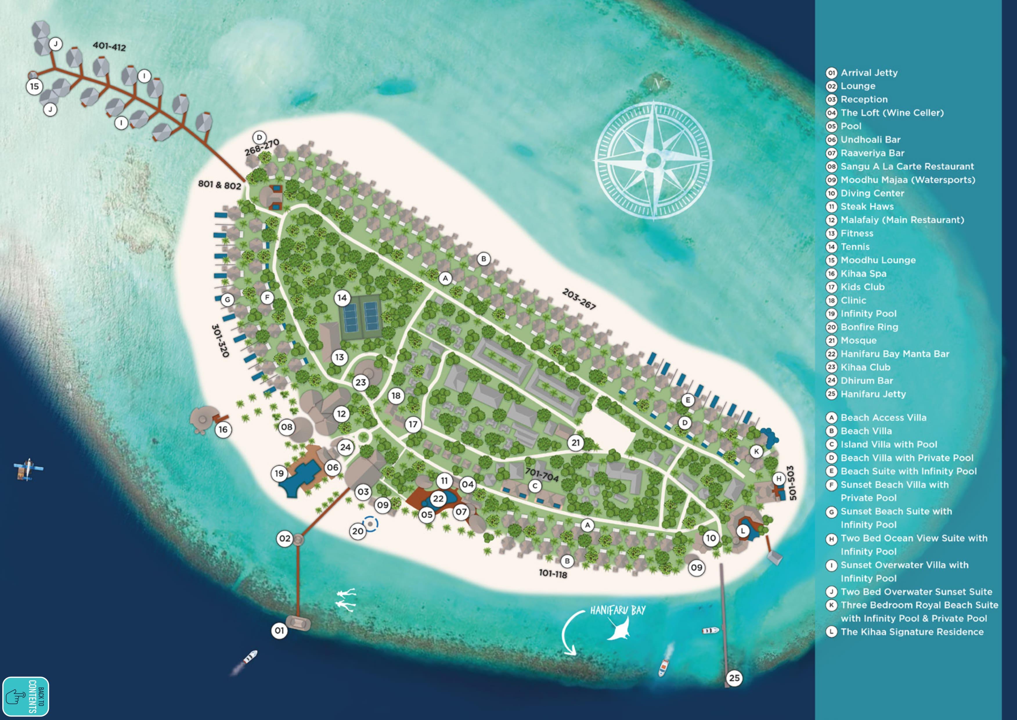 mappa Kihaa Maldives, Map Maldives