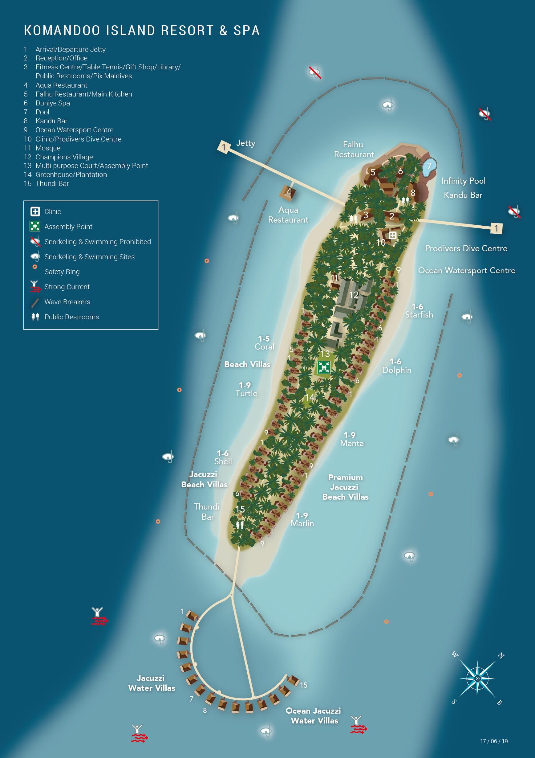 mappa Komandoo Maldive, Map Maldives