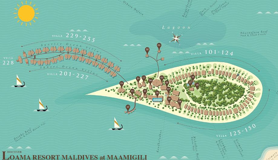 mappa Loama Maldive, Map Maldives