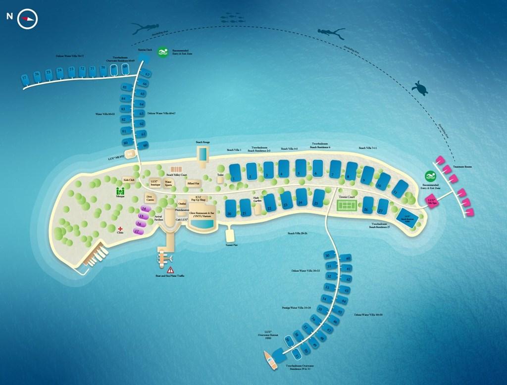mappa Lux* North Male, Maldive, Map Maldives