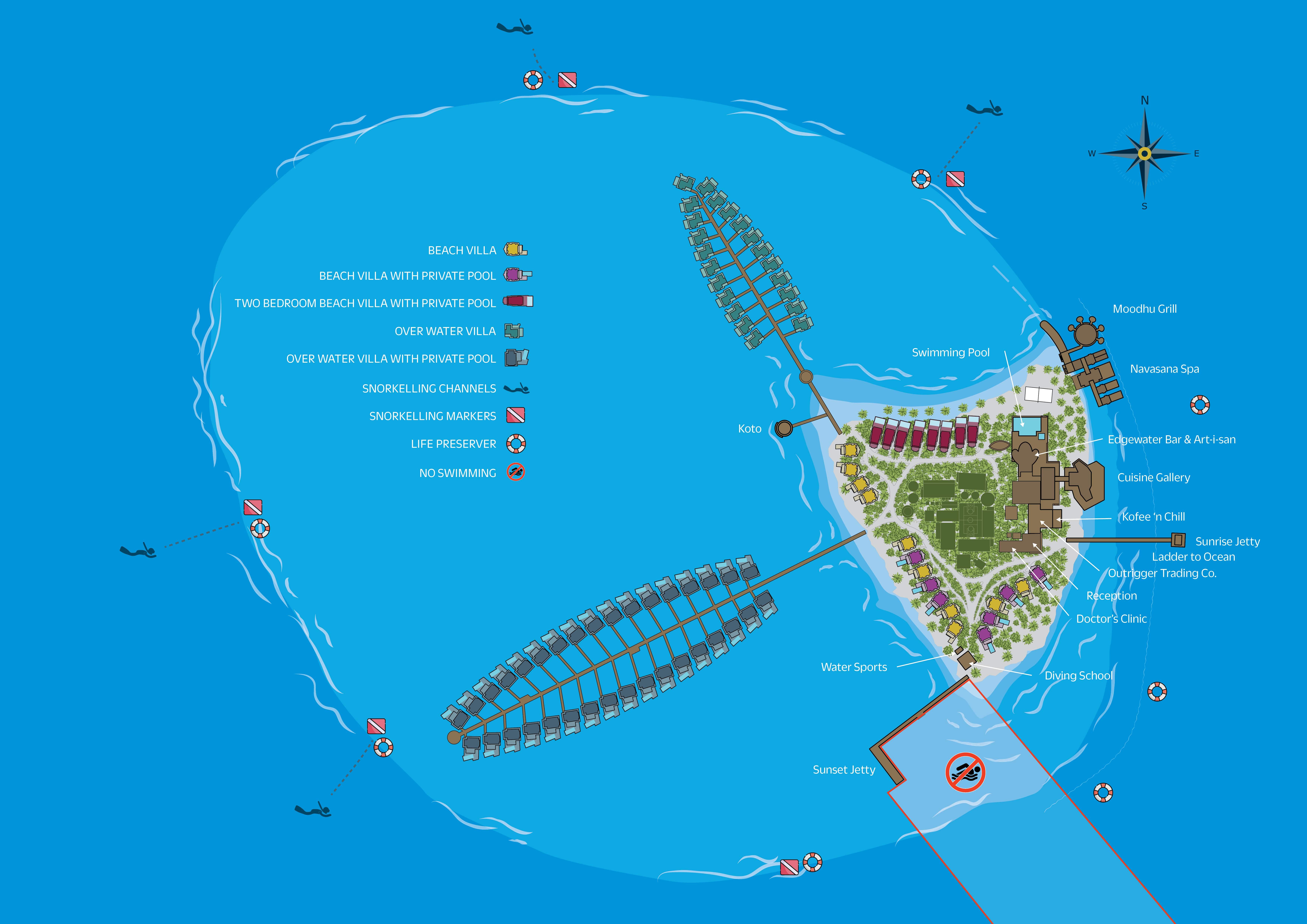 mappa Maafushivaru Maldive, Map Maldives