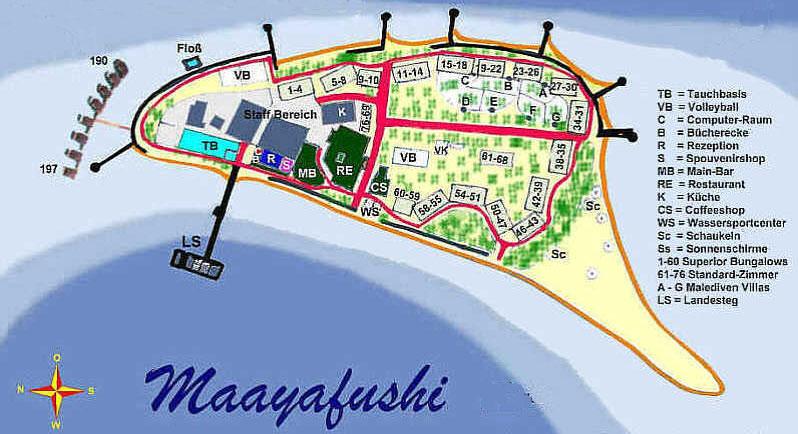 mappa Maayafushi Maldive, Map Maldives