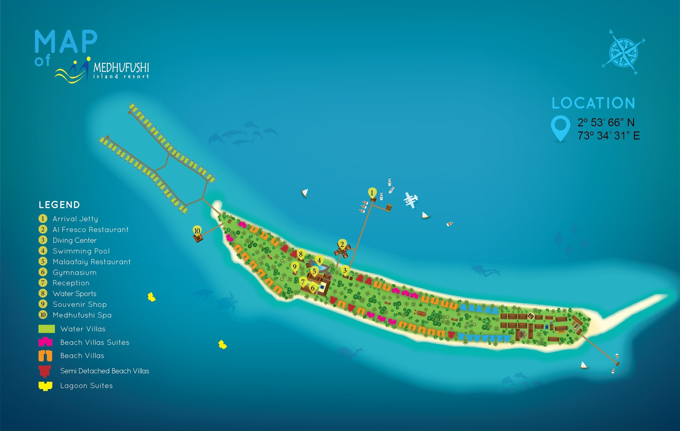 mappa Medhufushi Maldive, Map Maldives