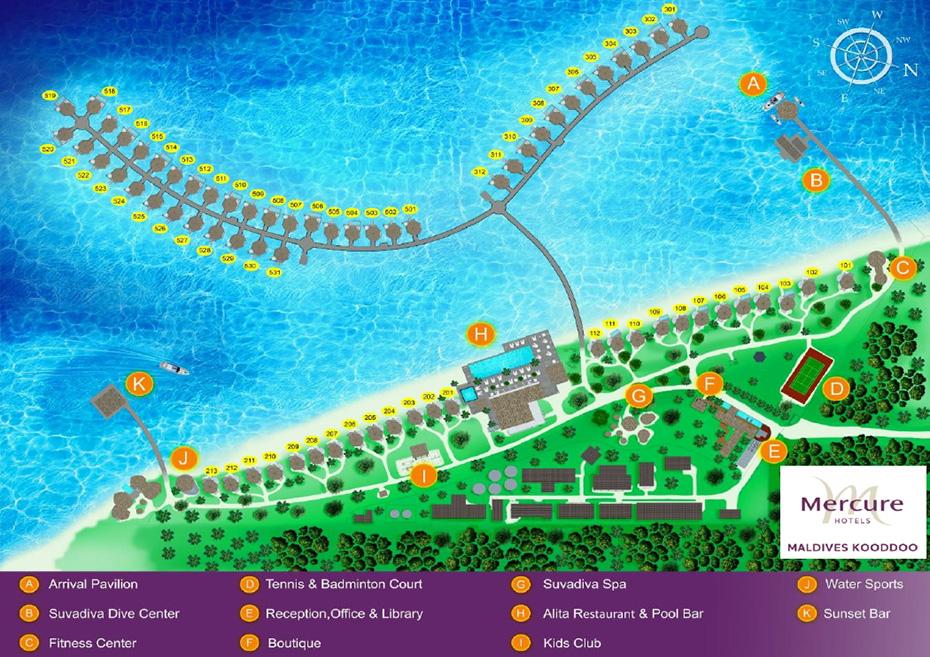mappa Mercure Maldives Kooddoo, Map Maldives