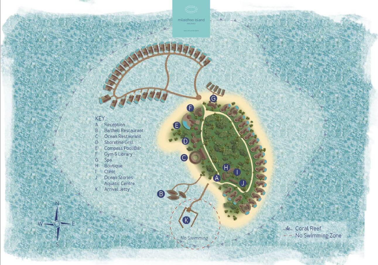 mappa Milaidhoo Maldive, Map Maldives