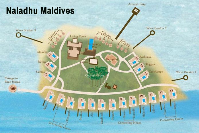 mappa Naladhu Maldive, Map Maldives