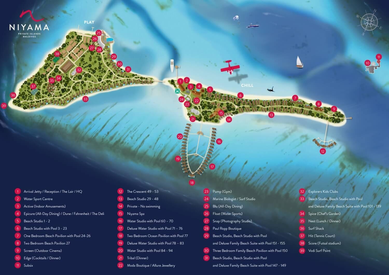 Niyama Maldive, Map Maldives