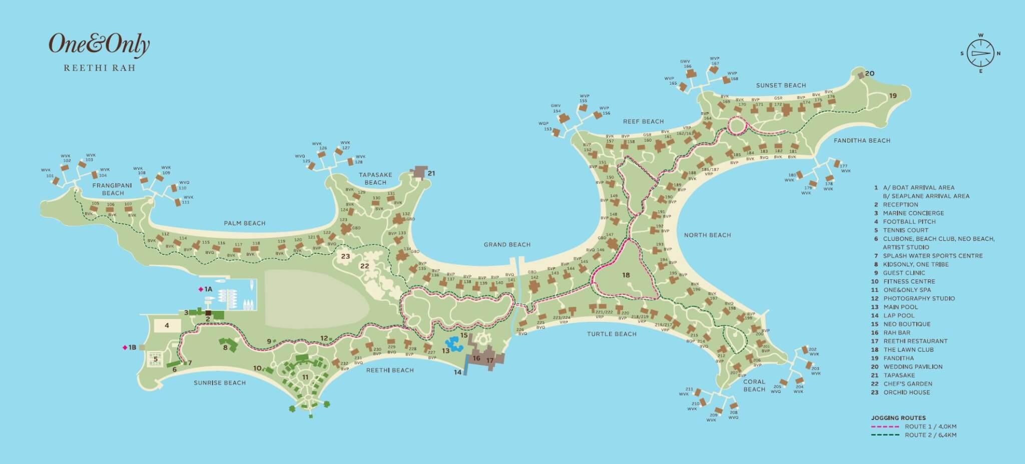 mappa One&Only Reethi Rah Maldive, Map Maldives