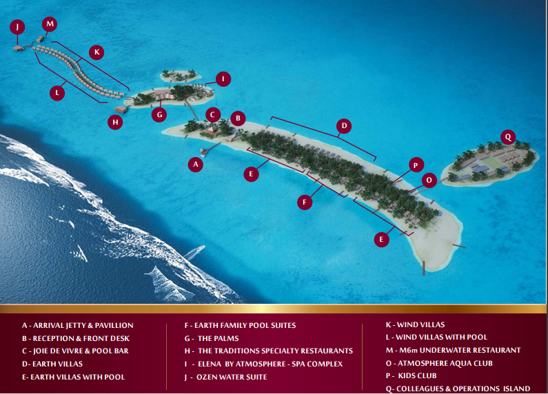 mappa OZEN by Atmosphere at Maadhoo, Map Maldives