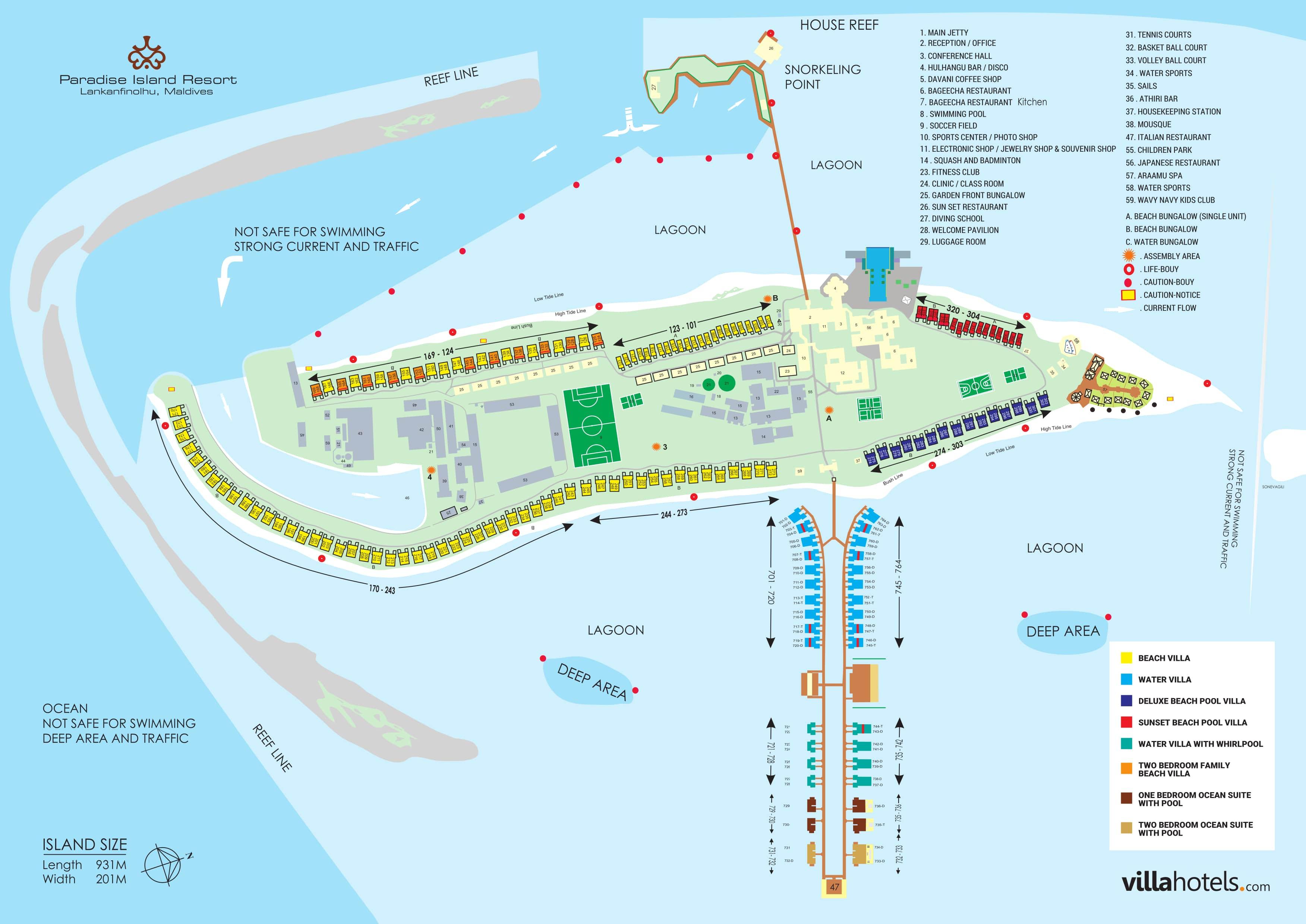 mappa Paradise Island Maldive, Map Maldives