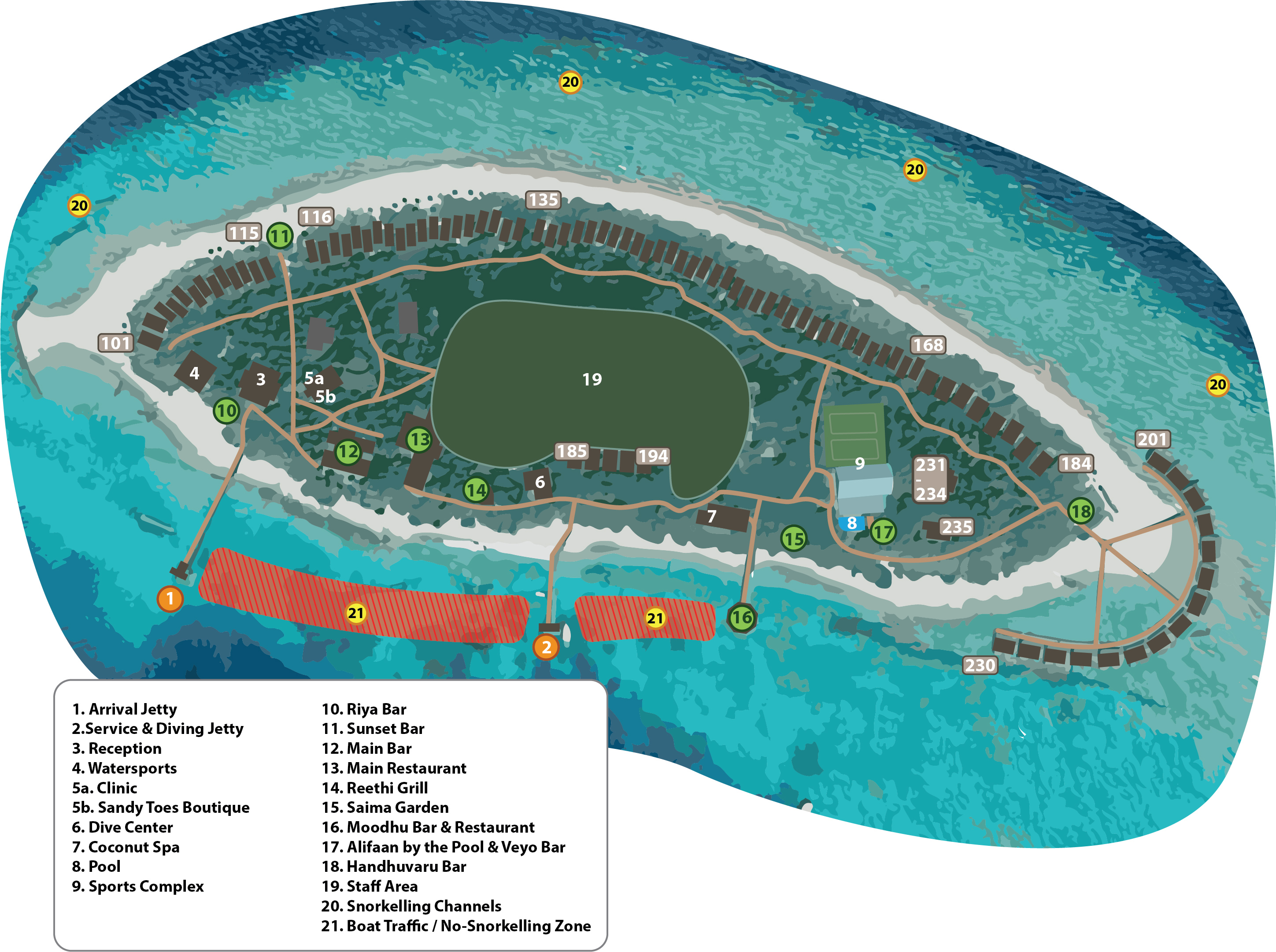 mappa Reethi Beach Maldive, Map Maldives
