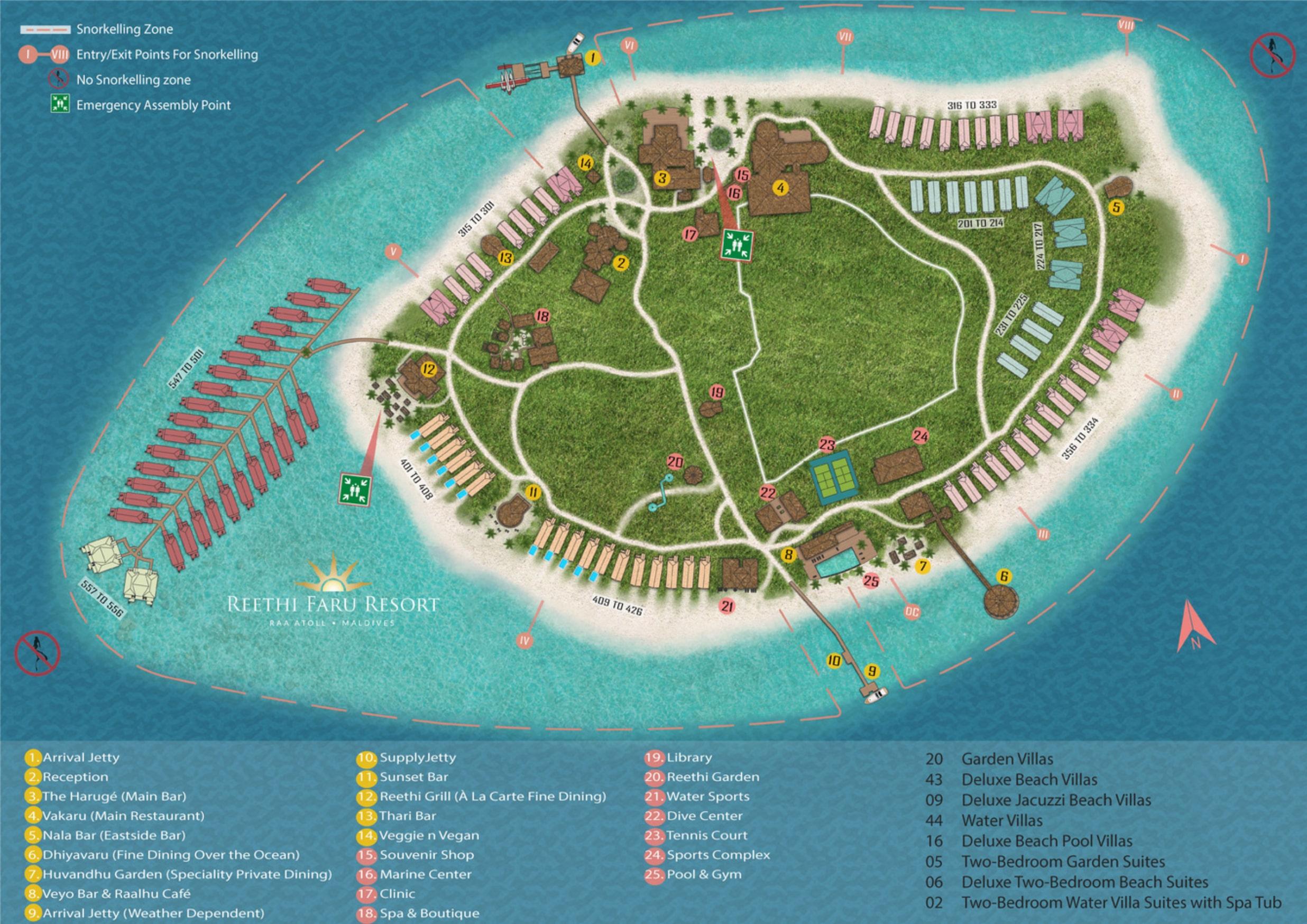 mappa Reethi Faru Maldive, Map Maldives